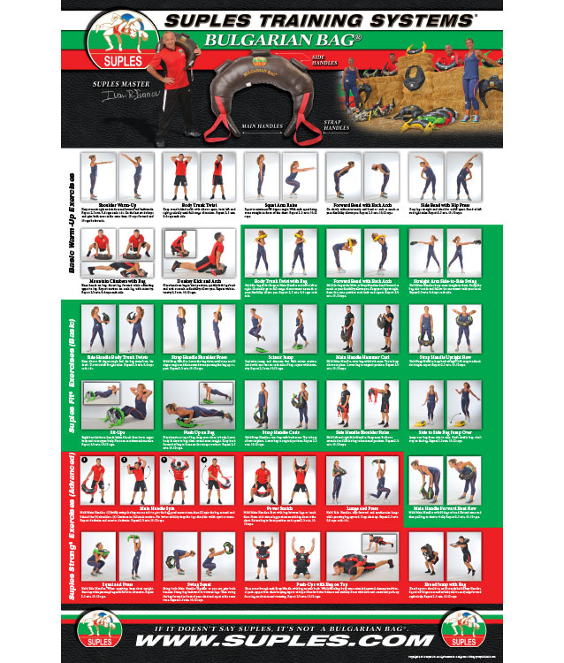 Bulgarian Bag Exercise Poster Vinyl
